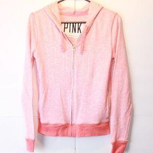*PINK Victoria's Secret XS Pink Full Zip Hoodie